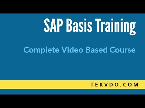 SAP Basis Training - RFC Fundamentals Deep Dive - SAP Basis course