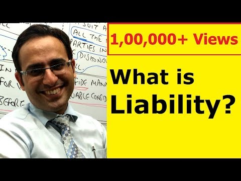 Definition and Meaning of Liability