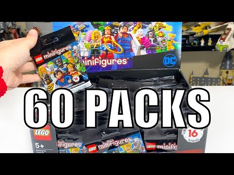 Mystery LEGO 2020 DC CMFs FULL BOX (60 Pack) Opening!