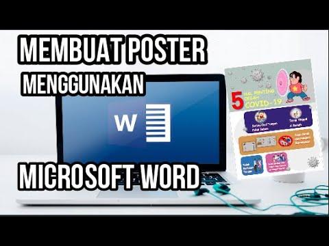 Tutorial Membuat Poster Menggunakan Microsoft Word (Bagian ...