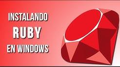 Como instalar Ruby en Windows | Tutorial Ruby: Hola Mundo