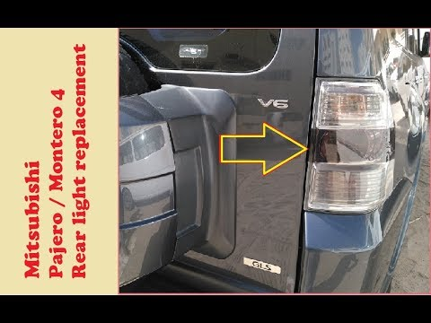 DIY: Mitsubishi Pajero/Montero 4 rear light/lamp replacement