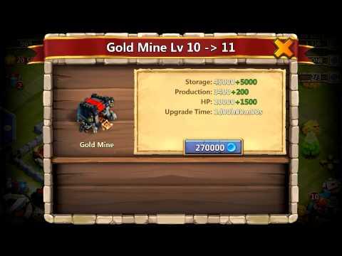 Castle Clash Upgrading Level 10 Gold Mine