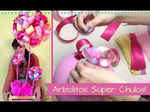 Chuladas creativas arbolitos decorativos centros de - Centros decorativos para mesas ...