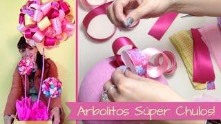 Repeat youtube video Chuladas Creativas :: Arbolitos Decorativos :: Centros de Mesa :: Baby