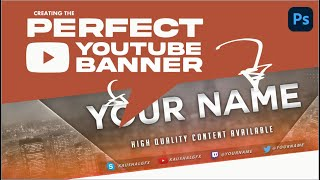 Best Top New YouTube Channel Art PSD | Kaushal Gfx | Photoshop Pro Tutorial #14