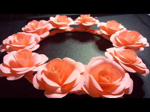 DIY EASY PAPER FLORAL CROWN