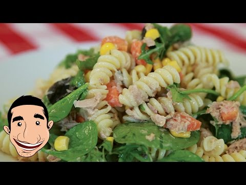 Tuna Pasta Salad Recipe | Clean Eating Tuna Salad With Pasta