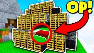 BEST OBSIDIAN BASE DEFENSE CHALLENGE! (Minecraft BED WARS)