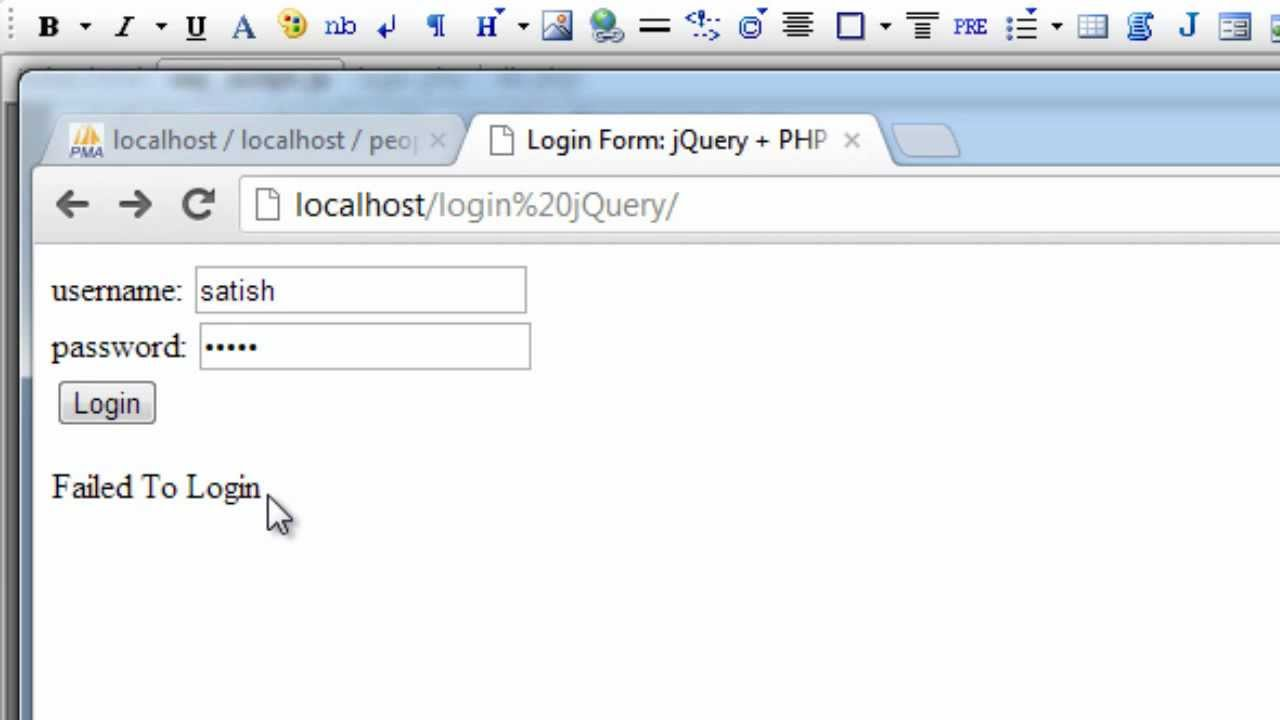 PHP - Login Example