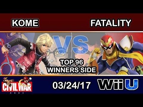 2GGC: Civil War - Kome (Shulk) Vs. FS   Fatality (Captain Falcon) Top 96 Winners Side