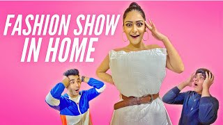 CREATING FASHION SHOW IN HOME CHALLENGE | Rimorav Vlogs