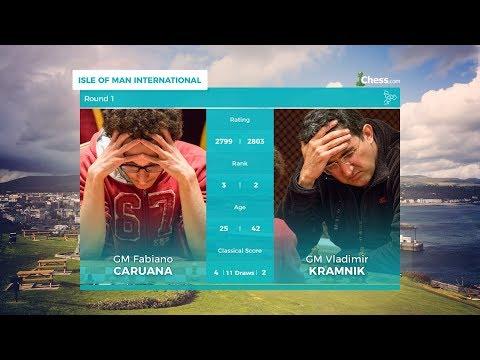 Chess.com Isle of Man International: Round 1 | Caruana Vs Kramnik