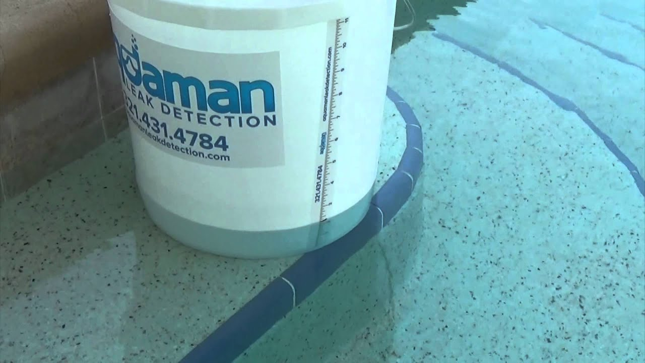 Bucket Test Dyi Pool Leak Test Pool Leak Detection Fl