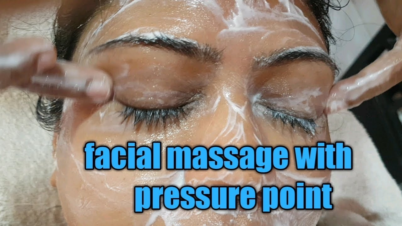 Pressure points for facial massage