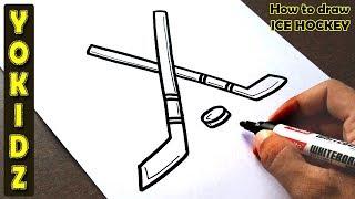 How to draw ICE HOCKEY
