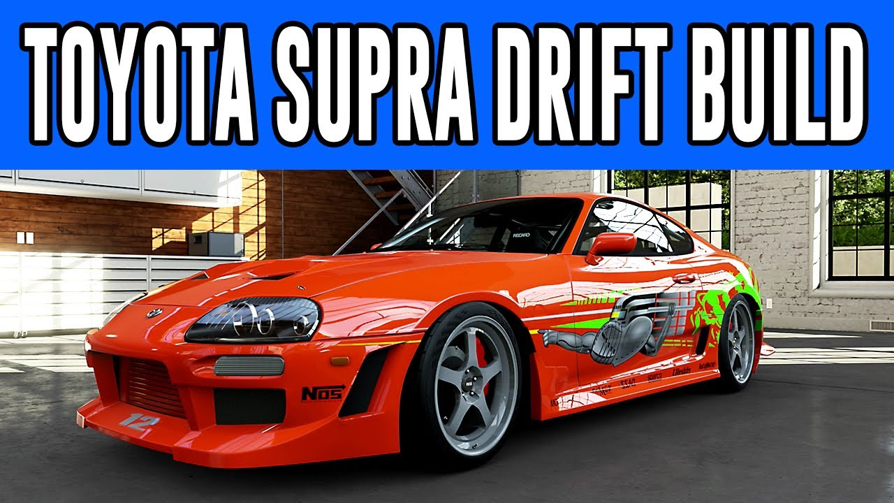 Forza 5 fast and the furious paul walker brian o connor s toyota supra drift build youtube