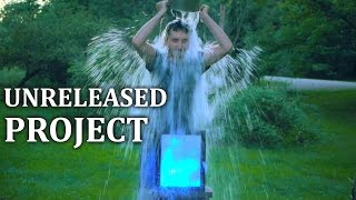 als ice bucket challenge unreleased led water contact sketch board