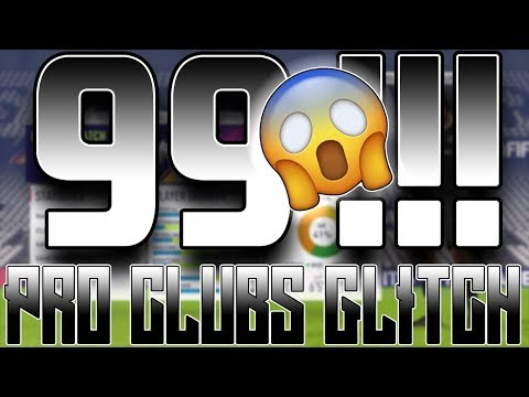 FIFA 18  PRO CLUBS GlITCH | 99 RATED NEW UPDATED *22/05/18  - ( STILL WORKS 100%)
