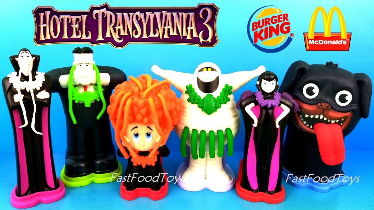 2018 Hotel Transylvania 3 Burger King Jr Kids Meal Toys Play Doh