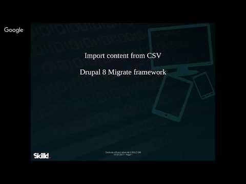 Drupal 8 Migrate - CSV import
