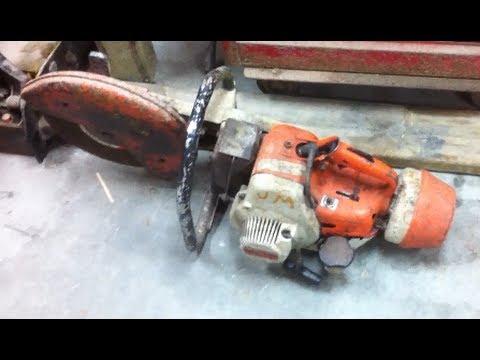 STIHL TS 350 Super Cut Off Saw Pre Engine Rebuild Video
