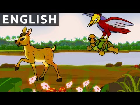 Wood Pecker, Deer And Tortoise - Jataka Tales In English - Animation / Cartoon Stories For Kids