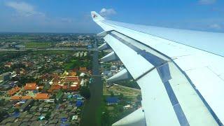 Qatar Airways Airbus A340-600 STUNNING LANDING at Bangkok Suvarnabhumi Airport (BKK)!