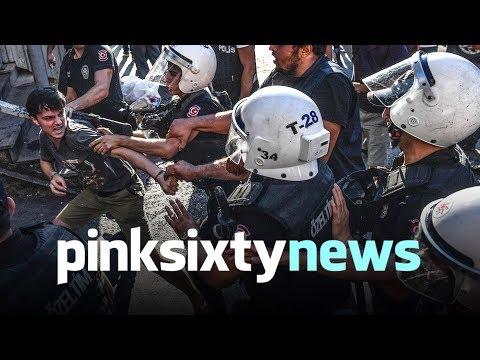 POLICE ATTACK PRIDE PROTESTORS IN TURKEY