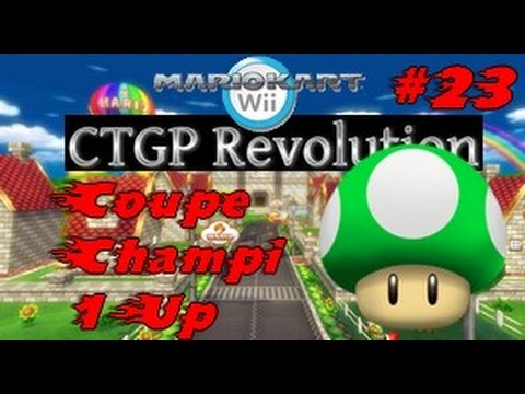 Mario kart wii ctgp revolution 23 coupe champi 1up youtube for Coupe miroir mario kart wii