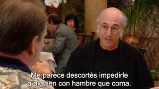 Larry David no quiere esperarse para comer