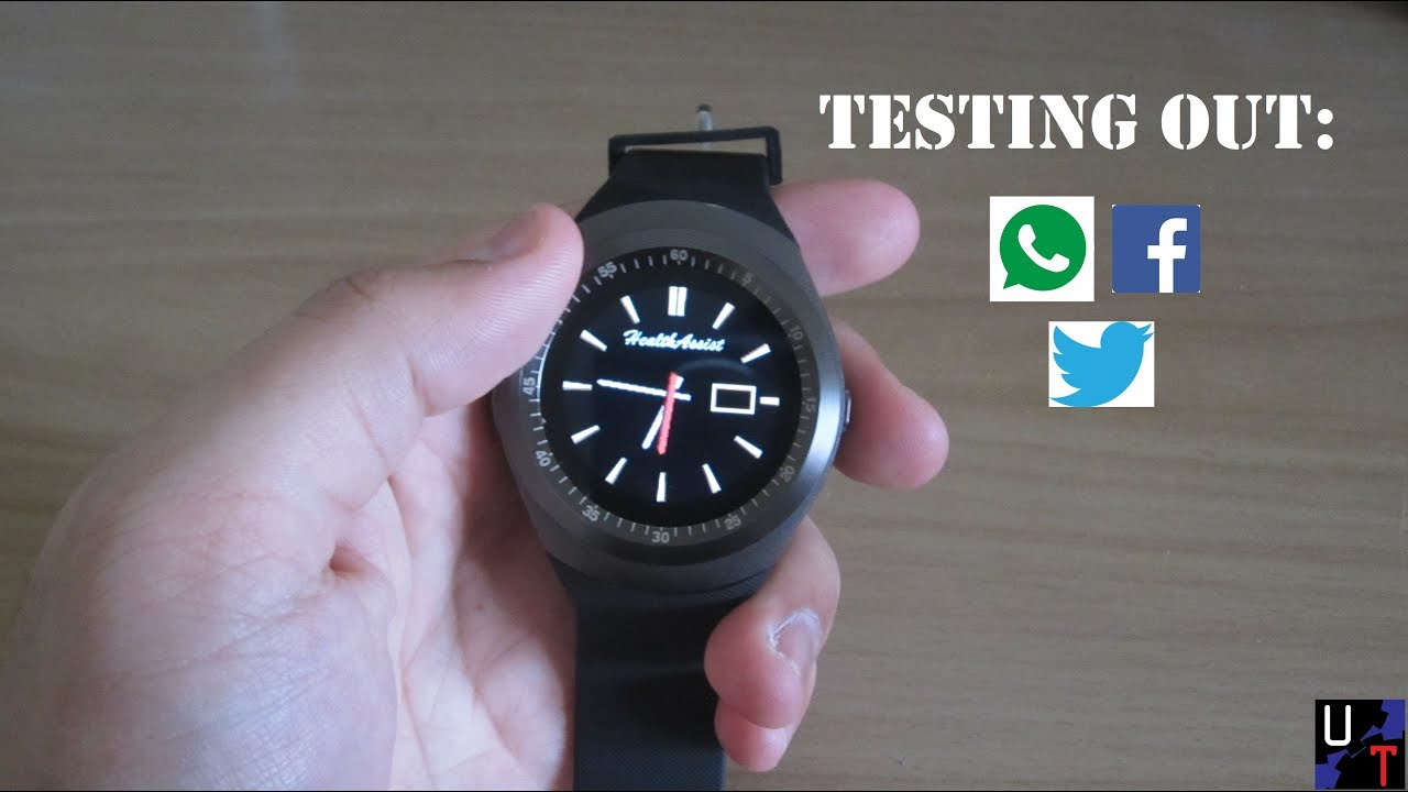 Trying A SIM On The Y1 Smartwatch Testing Whatsapp, Facebook, & Twitter!