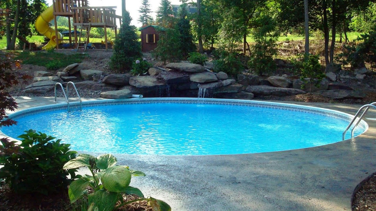 oval swimming pool above ground designs youtube