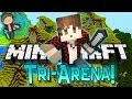 Minecraft: Village Tri-Battle-Arena w/Mitch, Mat, & Preston! Part 2 of 2!