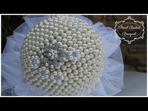 DIY Pearl Bridal Bouquet | DIY Glam Wedding Bouquet | DIY Wedding Tutorial