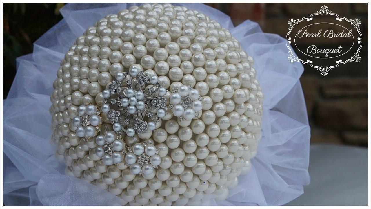 DIY Pearl Bridal Bouquet | DIY Glam Wedding Bouquet | DIY ...
