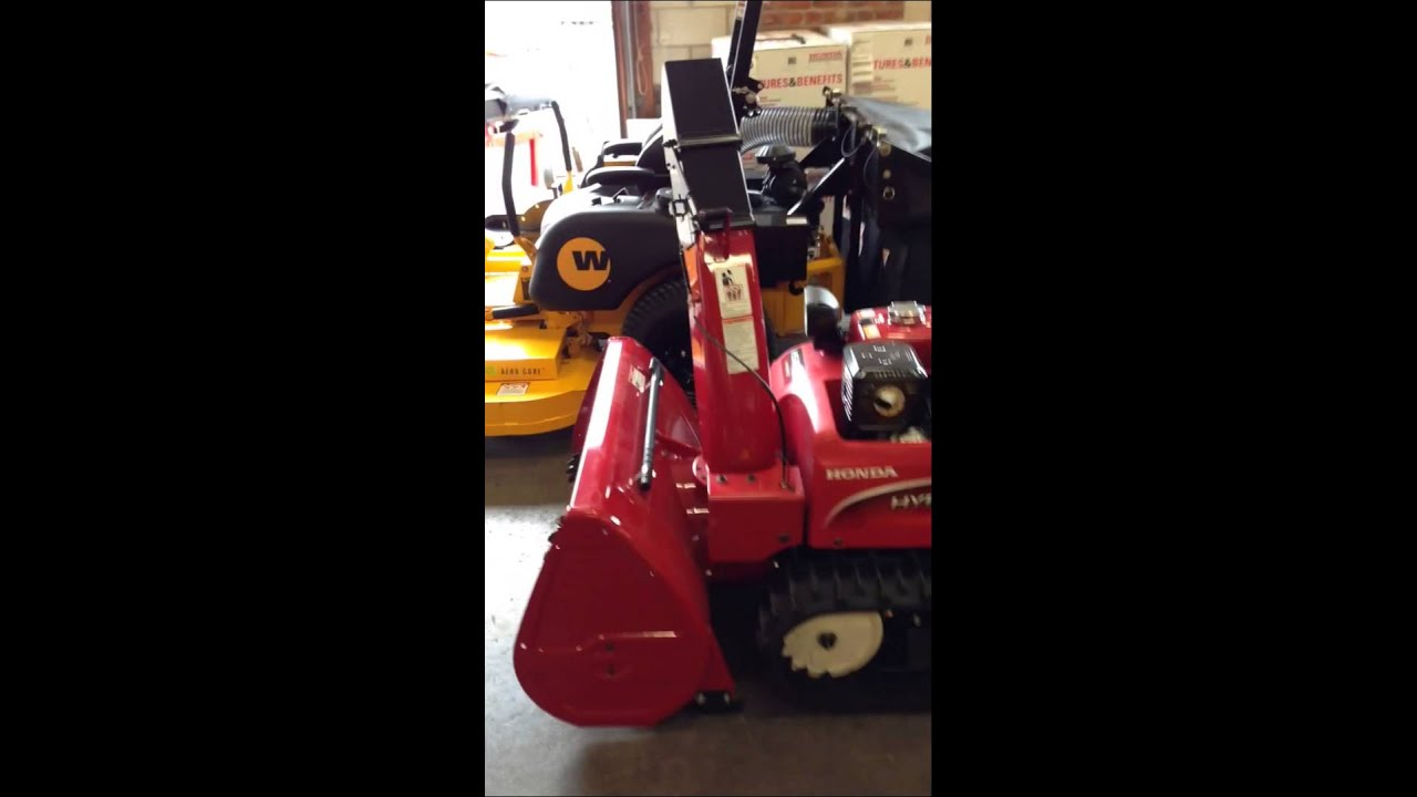 honda hsi hybrid snowblower youtube