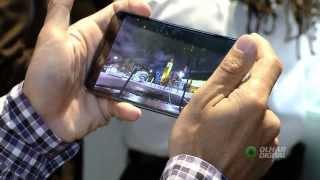 Olhar Digital testa o G Flex da LG, o celular de tela curva. CES 2014