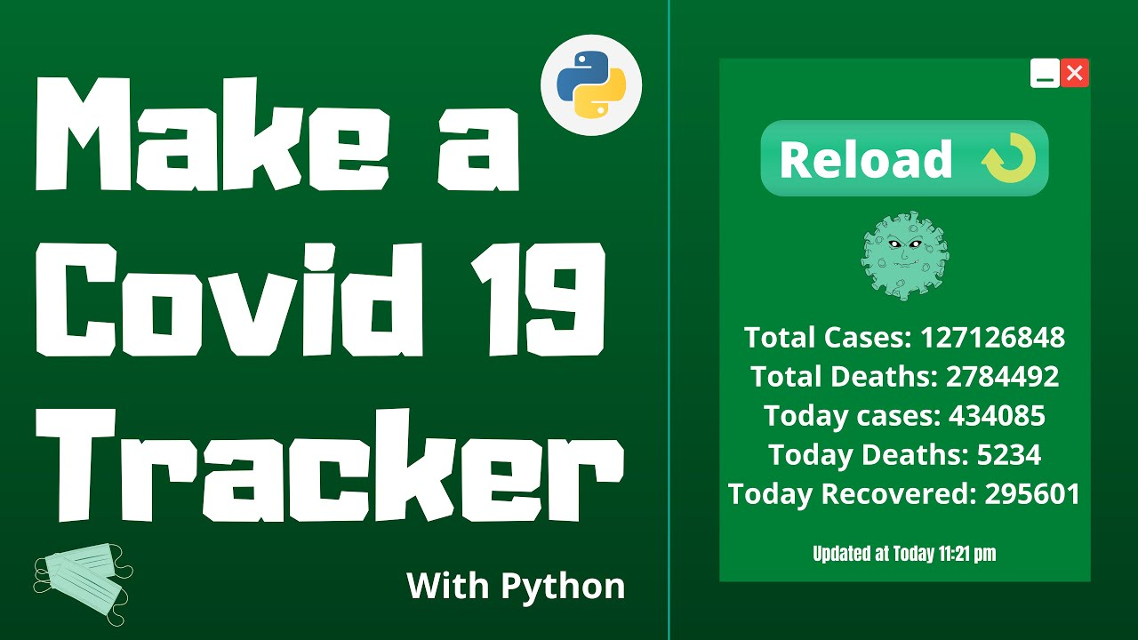 Make a Covid19 Tracker with Python | API Based | Python Project for Beginners