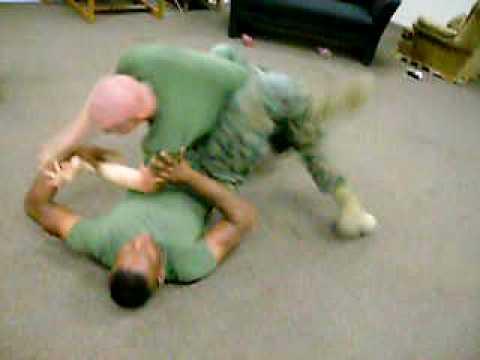 Marines wrestle
