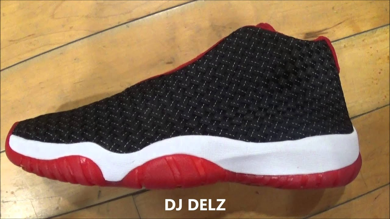 8480ca5ebe7 ... best price air jordan future premium bred black red qs sneaker review  3m test with dj