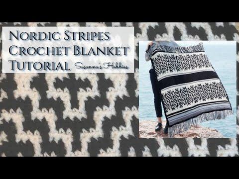 Mosaic Crochet Blanket Tutorial