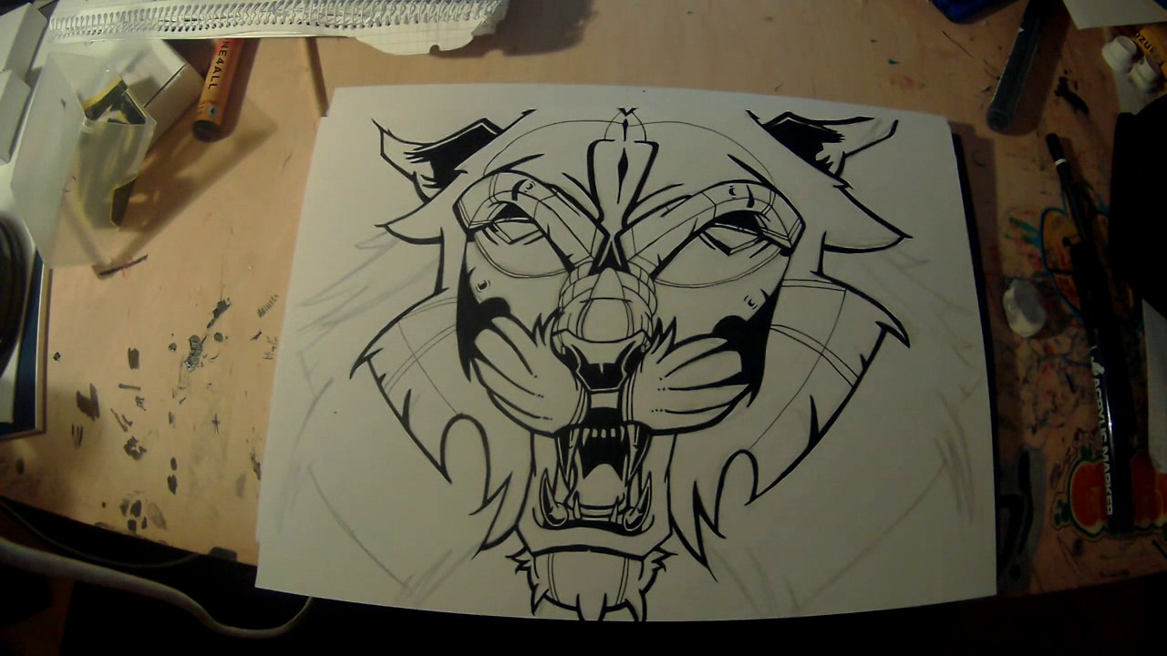 Graffiti How To Draw A Tiger Timelapse