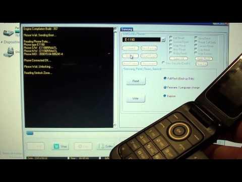 Unlock Free Liberar Gratis samsung E-1190 usando PolarBox HD