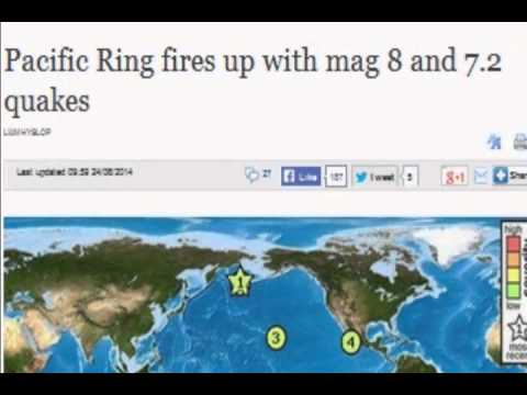 Pacific Ring fires up with mag 8 and 7.2 quakes