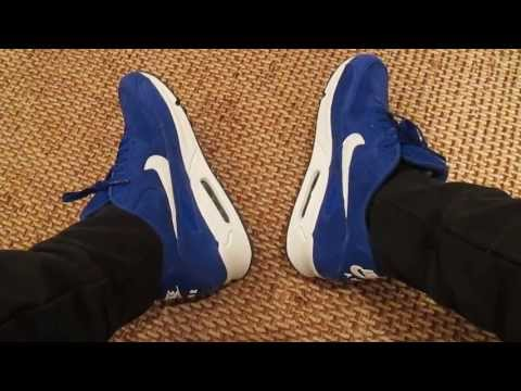 """nike-air-max-90-""""suede-pack""""-hyper-blue-on-feet-review-+-roshe-run-squadron-blue"""