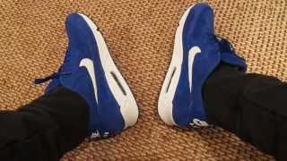 видео Nike Roshe Run blue suede
