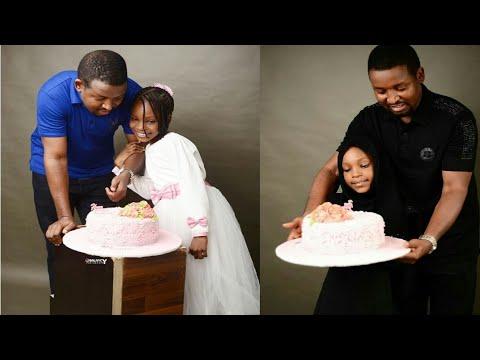 Jarumi Yakubu Muhammad yana murnar birthday din yar sa
