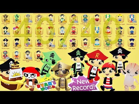 Tag With Ryan - COMPLETE RYAN CHARACTERS 40/40 + Pirate Ship CLIPPER + NEW RECORD +MYSTERY EGG
