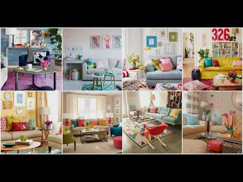 Colorful Living Room Ideas  Furniture Design Wall Fall